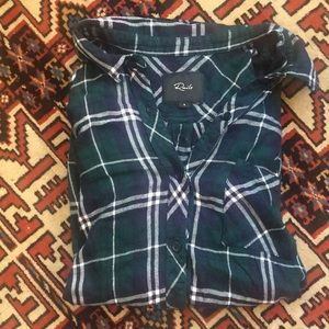 Rails Size S Hunter Forest/Navy/White Flannel